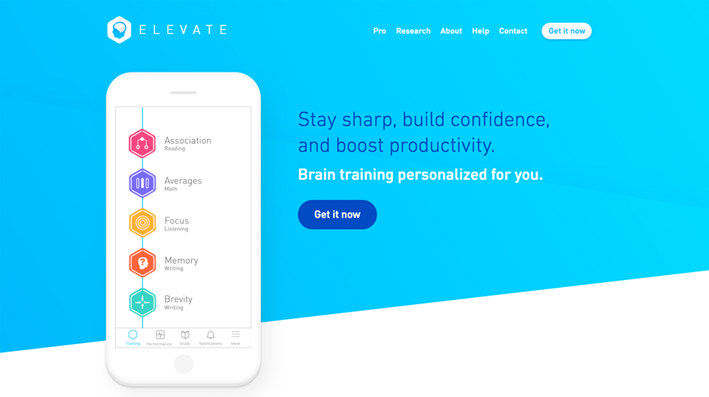 Elevate - Brain Training and Brain Games